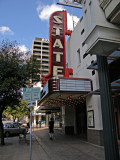 A View of the State Theater Sign and Entrance