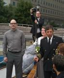 Chris Williams(c)wedding of Jeff Moore(l) Kathryn Leonard Moore(r)ex.r is Captain Patrick Harris (photo Helena Boskovic)