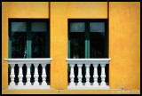 White Balcony on Gold