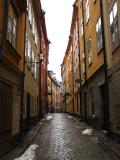 Sztokholm. Wąska uliczka Starego Miasta (Gamla Stan).(IMG_2335.JPG)