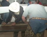 Measuring the Snakes, the hunters tend to bring in the larger snakes since the smaller ones don't weight much