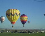 Balloonists over the accident scene