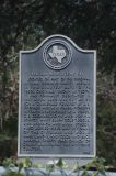 Texas Historical Marker noting Clyde's Burial in this Cemetary