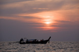 Phi-Phi Leh: Sunset with Long-tail Boat