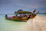Tup Island: Long-tail Boats on Beach