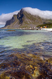 Flakstad Island: Vikten: Sea with Mountains and Clouds