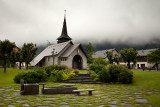 Les Praz: Rainy Church