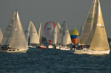 Sailboats Round the Mark, sailboat regatta, Lake St. Clarie, MI