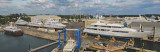 Derecktor of Florida shipyard panoramic photo made from 5 stitched