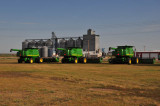 New combines and grain elevator.