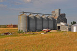 The old school and grain elevator.