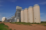 Unique grain bins-Bentley, ND elevator.