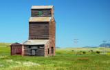 Suffolk, MT old grain elevator.
