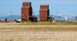 Hobson, MT old grain elevators.