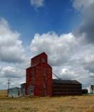 Hilger, MT old grain elevator.