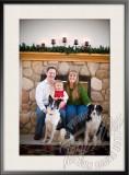 Bielecki Family by the Fireplace