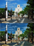 Town plaza Before & After Topaz Adjust