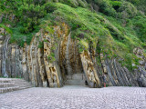 Flysch formation in Paseo Eduardo Chillida