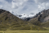 View of La Raya Pass in the Peruvian Altiplano