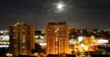 Full moon, clear sky