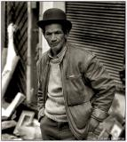 11 Feb 2006 Street portrait - The man with the dark eyes