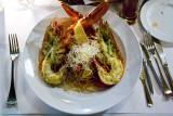 Whole Atlantic Lobster on pasta