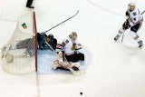 Logan Couture in the net