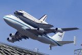 9/21/2012  Space Shuttle Endeavour OV105 on top of a Boeing 747 Shuttle Carrier Aircraft (SCA) N905NA