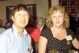 Gail and I at Uncle Bert's 90th birthday dinner  4/1994