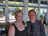 Gail and Elliot at Melanie's wedding on Treasure Island  5/19/2001