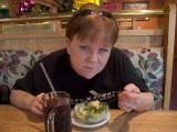 Gail and her salad at Buttercup Pantry in Placerville