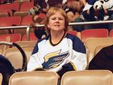 Gail at a Fresno Falcons game  12/07/2002