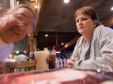 Gail and I at Bubba Gump's for Christmas Eve dinner.