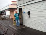 Gail got me coming out of the Men's room on the Wharf