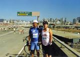 Elliot and Gail on a bike ride in San Francisco  Unknown date