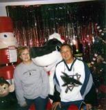 Gail and Elliot with Santa Sharkie  12/14/2002