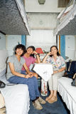 Pat, Diane and Glory in the sleeping compartment