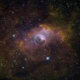 NGC 7635 (R-G-B = Ha-SII-OIII Palette)