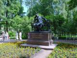 A sculpture of poet Pushkin