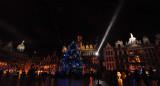 La Grand-Place sous les lumières de Noêl