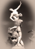 The Rape ( Abduction )  of the Sabine Women , Galleria dell'Accademia , Florence