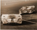 Winning Porsche 917K of Rodriguez/Oliver with 3rd Place Ferrari 512M of Donohue/Hobbs behind, 24 HRS Daytona 1971