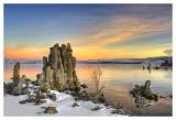 A Winter Walk at Mono Lake