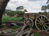 Abandoned House and Wagon