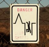 Faded Danger Sign