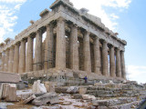 Acropolis - Parthenon with a person showing the temple's scale.jpg