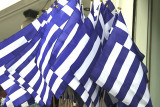 Delphi A Plethora of Greek flags.jpg