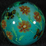 Marigolds and Butterflies Size: 1.49 Price: SOLD