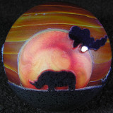 White Rhino Sunset 2 Size: 1.58 Price: SOLD