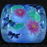 Dragonflies and Waterlilies Size: 1.03 x 0.96 x 0.83  Price: SOLD